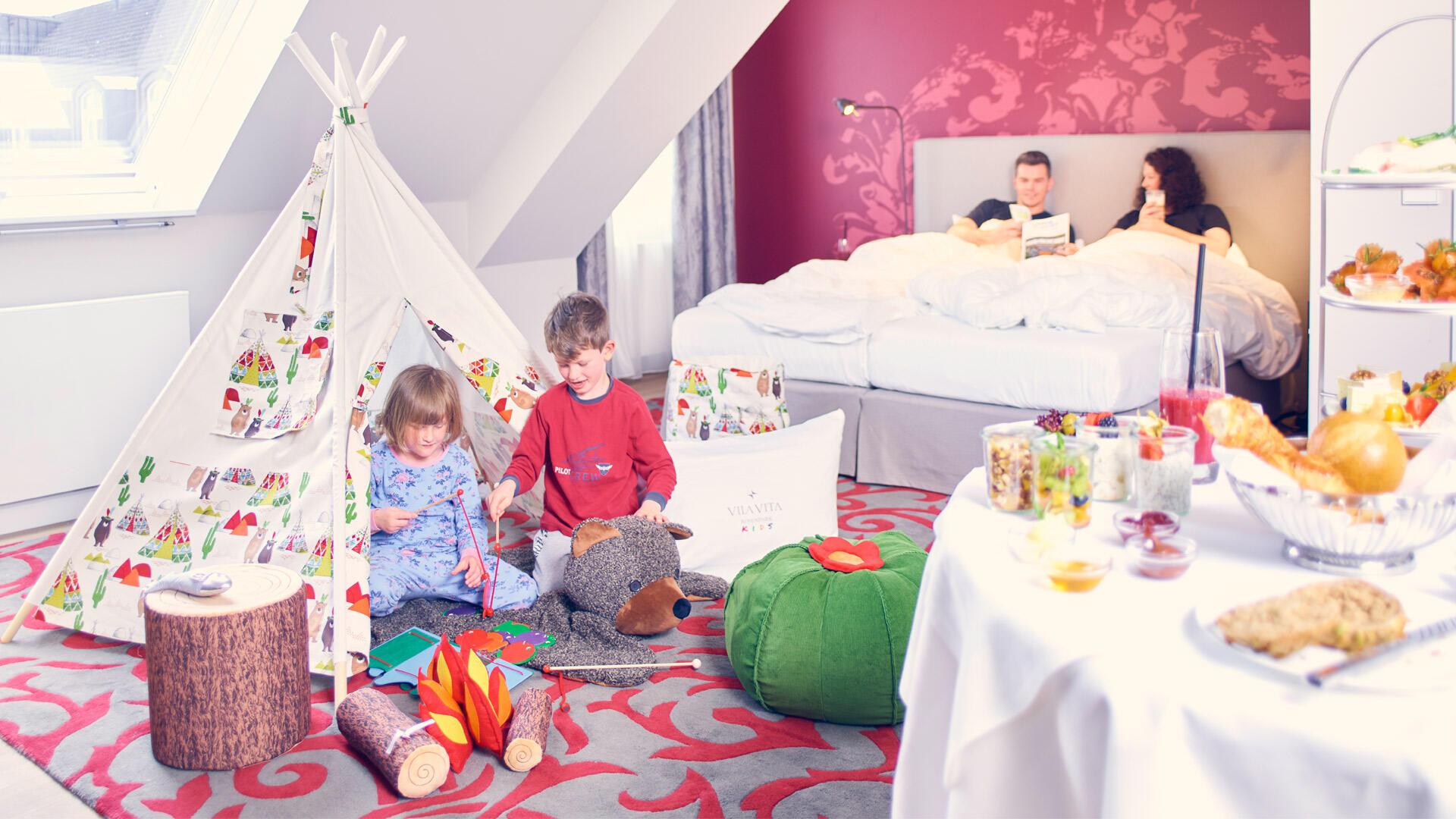 Wohnen mit dem KIDS Treatment im Hotel VILA VITA Rosenpark